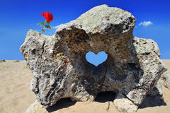 Rocha dada forma coração Imagens de Stock