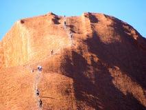 Rocha de Ayers, escalada de Uluru Foto de Stock Royalty Free