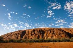 Rocha de Ayers (Uluru) fotografia de stock