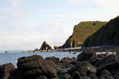 Rocha de Blackchurch, Devon norte foto de stock