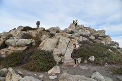 Rocha de China, movimentação de 17 milhas, Califórnia, EUA Fotos de Stock Royalty Free