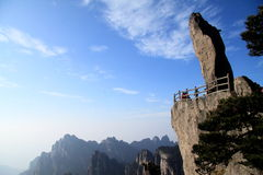 Rocha de Feilai na montanha de Huangshan Fotografia de Stock Royalty Free