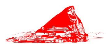 A rocha de Gibraltar ilustração do vetor