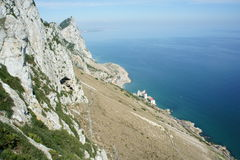 Rocha de Gibraltar Imagem de Stock