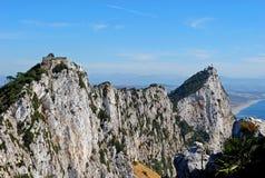 A rocha de Gibraltar, Reino Unido. fotos de stock