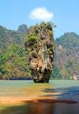 Rocha de James Bond em Tailândia imagem de stock royalty free