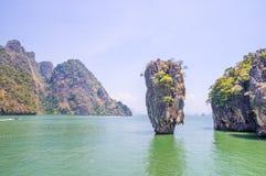 Rocha de Ko Tapu em James Bond Island Imagem de Stock