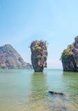 Rocha de Ko Tapu em James Bond Island Imagens de Stock