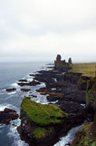 Rocha de Londrangar em Sneafellsnes em Islândia Fotos de Stock Royalty Free