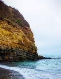 Rocha de pedra no Mar Negro foto de stock royalty free