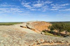 A rocha de Pildappa é um inselberg cor-de-rosa original imagem de stock