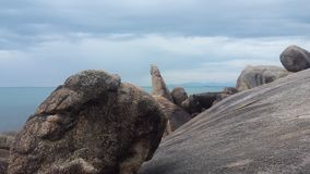 A rocha de primeira geração é algo original Foto de Stock