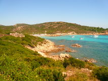 Rocha de Principe da costa de Smerald Fotos de Stock