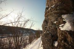 A rocha de Yermak Rio de Sivla Permskiy Kray Rússia Fotografia de Stock Royalty Free