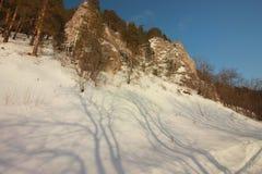 A rocha de Yermak Rio de Sivla Região de Ural Imagens de Stock