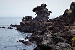 Rocha de Yongduam, Dragon Head Rock em Jeju, Coreia fotos de stock