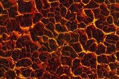 Rocha derretida, lava Imagem de Stock Royalty Free