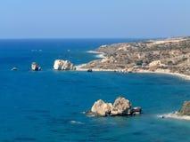 Rocha do Aphrodite Chipre foto de stock royalty free