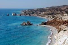 Rocha do Aphrodite em Chipre fotos de stock royalty free