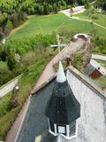 Rocha do arenito cor-de-rosa de Dabo em Moselle Local classificado desde 1935 fotos de stock royalty free
