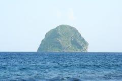 Rocha do diamante em Martinica imagens de stock