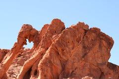 Rocha do elefante no vale do incêndio, Nevada imagem de stock royalty free