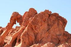 Rocha do elefante no vale do incêndio, Nevada fotografia de stock royalty free