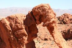 Rocha do elefante, vale do incêndio, Nevada foto de stock royalty free