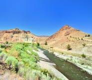 A rocha do navio e o rio do dia de John Foto de Stock Royalty Free