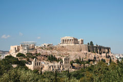 Rocha do parthenon Imagem de Stock