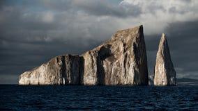 Rocha do retrocesso nas Ilhas Galápagos imagens de stock