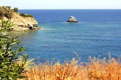 Rocha do tubarão em crete Imagem de Stock