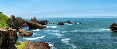 Rocha do Virgin, cidade de Biarritz, França Imagem de Stock Royalty Free