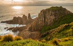 A rocha dos pináculos de Philip Island, Austrália fotos de stock