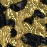 Rocha dourada do minério Fotografia de Stock