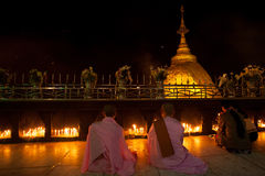 Rocha dourada, Myanmar Imagens de Stock