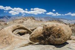 Rocha e arco redondo, montes de Alabama, Sierra Nevada fotografia de stock