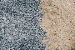 Rocha e areia do granito da construção Imagem de Stock