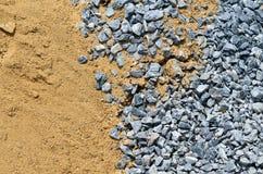 Rocha e areia para o edifício Imagem de Stock