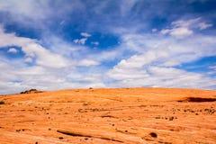Rocha e céu Fotografia de Stock