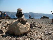 Rocha e lava do vulcão Imagem de Stock