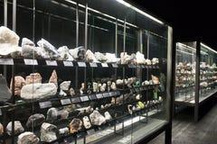 Rocha e minerais na exposição do vida dos planetas Fotos de Stock Royalty Free