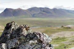 Rocha e a montanha Fotografia de Stock