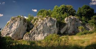 Rocha e montanhistas da rocha Imagem de Stock Royalty Free