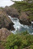 A rocha e Ranboya de Kaminariiwa gorge na costa de Goishi fotografia de stock