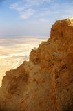 Rocha e sobremesa de Masada Imagens de Stock