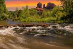 Rocha em Sedona, o Arizona da catedral Imagem de Stock Royalty Free