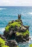 Rocha em Wai'anapanapa, Maui Foto de Stock Royalty Free