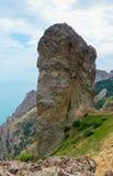 Rocha enorme de Chertov Palets (dedo do inferno) Imagem de Stock