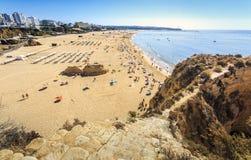 rocha för da-portimaoportugal praia arkivfoto